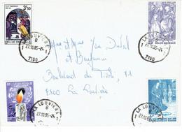 Spectaculaire Affranchissement De 4 Timbres Aux 4 Coins De L'enveloppe (La Louvière, 27/10/1985) - Curiosidades