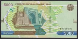 Uzbekistan 5000 Som 2021 Pnew UNC - Uzbekistán
