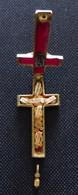 Croix Reliquaire En Bronze, D'origine Avec Reliques - Religion & Esotérisme