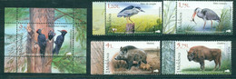 Moldova, Protected Fauna, 2018, 4 Stamps +block - Other