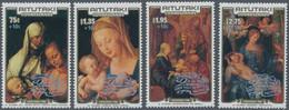 Aitutaki: 1986, Christmas Complete Set Of Four With Different Dürer Paintings (St. Anne With Virgin - Aitutaki