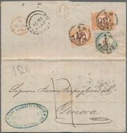 Argentinien: 1826/1871, Teilsammlung Von 10 Belegen In Schwarzen Lindner Einstecktafeln Meist Schiff - Zonder Classificatie