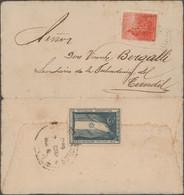 Argentinien: 1875/1946, Lot Of Ten Covers, Incl. 1873 1c. Violet+4c. Brown On Lettersheet To Veracru - Zonder Classificatie