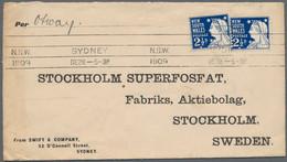 Australien - Besonderheiten: 1909-1958 Destination SWEDEN: 36 Covers And Postcards From Various Plac - Non Classés