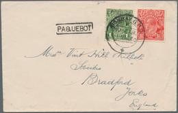 Australien - Besonderheiten: 1914/1957, MARITIME MAIL, Valuable Group Of 8 Paquebot Covers, Comprisi - Non Classés