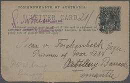 Australien - Besonderheiten: 1915/1919, POW-MAIL WWI: Interesting Collection With Ca. 35 Covers/card - Non Classés