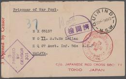 Australien - Besonderheiten: 1940/1947, POW-MAIL WWII: Comprehensive Collection With Ca.110 Covers/c - Non Classés