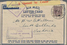 Australien - Besonderheiten: 1943/1948, AUSTRALIAN FORCES IN PAPUA NEW GUINEA, Interesting Group Wit - Non Classés