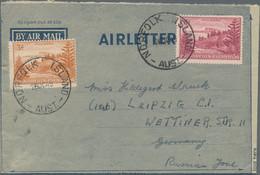 Australien - Besonderheiten: 1949/1954, AUSTRALIA AIR-LETTER FORMS USED IN OCEANIA, Interesting Grou - Non Classés