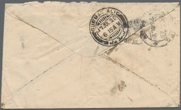 """Irak: 1919/21, Stampless Military Mail Covers Endorsed """"on Active Service"""" (8, Mixed Condition) To E - Irak"""