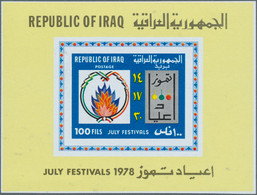 Irak: 1977/1982 (ca.), Accumulation With Approx. 3.500 IMPERFORATE Stamps With Many Complete Sets Al - Irak