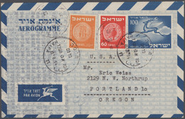 Israel - Ganzsachen: 1950/60 (approx.), Collection Of Approx.1651 Aerogammes, Including Unused Mint, - Non Classés