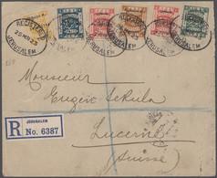 Palästina: 1923/37, Registered Covers (3) Used Jerusalem To Switzerland. - Palestina