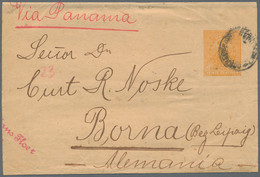 Peru - Ganzsachen: 1893/1912 (ca.), Assortment Of 26 Used Stationeries, Mainly Commercial Mail With - Peru