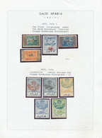 Saudi-Arabien - Nedschd: 1925 Collection Of 27 Overprinted Stamps Including Postage Due, From First - Saudi Arabia