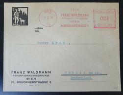Österreich 1932, Bedarfsbrief Freistempel WIEN Gelaufen Berlin - Cartas