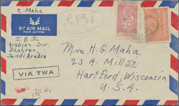 Saudi-Arabien: 1953/1994 (ca.) 35 Airmail Covers Mostly Sent To The USA In The 1950s And Franked Wit - Saudi Arabia