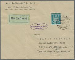 Flugpost Deutschland: 1924/1937, Partie Von 15 Belegen, Dabei Zeppelinbrief SiNr. 20 A Frankiert Mit - Airmail