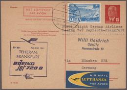 Flugpost Deutschland: 1955/1970, Umfangreicher Bestand Von Geschätzt Ca. 2.500-3.000 Belegen, Meist - Airmail