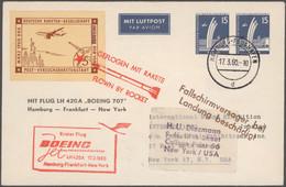 Flugpost Deutschland: 1960/78, Lufthansa-Erstflüge-Sammlung Mit Hunderten Briefen Und Belegen In Dre - Airmail