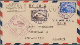 Zeppelinpost Deutschland: 1924/1938, Partie Von 22 Zeppelin/DOX-Briefen/-Karten Und Einer Vorderseit - Airmail