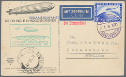 Zeppelinpost Deutschland: 1928/1939, Collection Of Approx. 80 Zeppelin Covers, Including Better Flig - Airmail