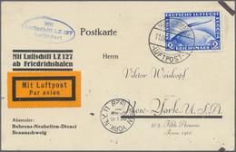 Zeppelinpost Deutschland: 1928/31, Kleine Partie Von Vier Zeppelin-Belegen, Dabei MiNr. 423 Auf Post - Airmail