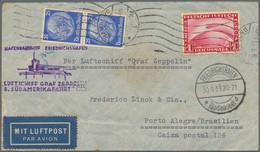 Zeppelinpost Deutschland: 1933/1934, Partie Von Zehn BEDARFSBRIEFEN Per Zeppelin Nach Brasilien, All - Airmail