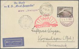 Zeppelinpost Deutschland: Attraktiver Posten Von Knapp 30 Belegen, Dabei Seltene Zeppelinfrankaturen - Airmail