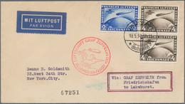Zeppelinpost Deutschland: Gehaltvoller Posten (Zeppelin- + Luftpost) Von Knapp 55 Belegen, Dabei Sel - Airmail