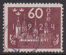 1924. Universal Postal Union Congress 60 öre.   (Michel 154) - JF424797 - Usati
