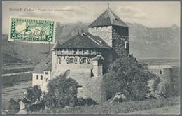 Liechtenstein: 1900/49, Interessanter Posten Mit 15 Briefen Und 17 Ganzsachen - Verzamelingen