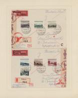 Liechtenstein: 1912/1985, Parallel Postfrisch Und Gestempelt Geführte Sammlung Im Schaubek-Album, Da - Verzamelingen