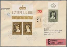 Liechtenstein: 1921/1989, Vielseitige Saubere Partie Von Ca. 212 Briefen Und Karten, Dabei Bessere F - Verzamelingen