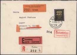 Liechtenstein: 1928/1961, Vielseitige Partie Von Ca. 90 Briefen Und Karten, Fast Nur Attraktive Phil - Verzamelingen
