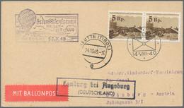 Liechtenstein: 1930/61, 16 Meist Verschiedene Erst- U. Sonderflugzuleitungen Ab Liechtenstein, Dabei - Collections