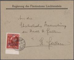 Liechtenstein: 1932/1980 Ca., Sammlung Mit Ca. 100 Dienstbelegen Dabei Viele R- Und Eil-Briefe, Sowi - Collections