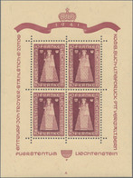 Liechtenstein: 1941; 1946, Madonna Von Dux Und Hl. Luzius, Je Im Kleinbogen Zu Vier Marken, Tadellos - Collections