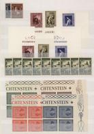 Liechtenstein: 1946/1960, POSTFRISCHES INVESTMENT-LOT Mit Nur Besseren Ausgaben, Sauber Auf Steckkar - Collections