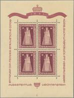Liechtenstein: 1947, Madonna Von Dux, Drei Kleinbogen Zu Je Vier Werten Platte A, B Und C Tadellos P - Collections
