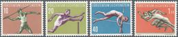 Liechtenstein: 1956, Sport III (Speerwerfen, Hürdenlauf, Stabhochsprung Und Kurzstreckenlauf) Bestan - Collections