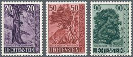 Liechtenstein: 1959, Bäume Und Sträucher III Bestand Von 125 Kompletten Sätzen Dabei Auch Einige Vie - Collections