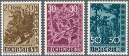Liechtenstein: 1959, Bäume Und Sträucher IV Bestand Von 95 Kompletten Sätzen Dabei Auch Etliche Vier - Collections
