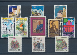 Liechtenstein: 1980/1989, Ten Collections Mint Never Hinged On Stockcards, Obviously Complete In The - Collections