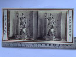 Photo Stéréoscopique ITALIE NAPOLI - Musee De Naple - N° 516 JUNON - Stereoscopic