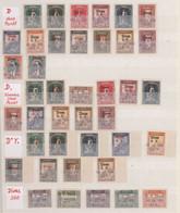 Türkei: 1930, Opening Of Railway Line Ankara-Sivas, VARIETIES OF SURCHARGE, Specialised Collection O - Unused Stamps