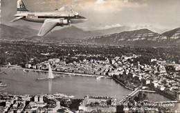 1V7 Ls   Aviation Avion à Identifier Misrair (Egypte) SU - AFN Au Dessus De Genéve - 1946-....: Modern Tijdperk