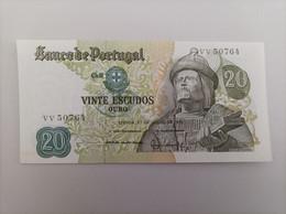 Billete De Portugal De 20 Escudos De 1971, Sin Circular/plancha - Portugal