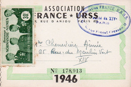 (20/09/21) CARTE ASSOCIATION - FRANCE-RUSSIE - TIMBRE VIGNETTE NORMANDIE-NIEMEN - Unclassified