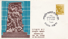 MEMORIAL DAY FOR THE VICTIMS OF THE HOLOCAUST, VICTIMES DE L'HOLOCAUSTE. ISRAEL SPC 5.5.1959 TEL AVIV.- LILHU - Monuments
